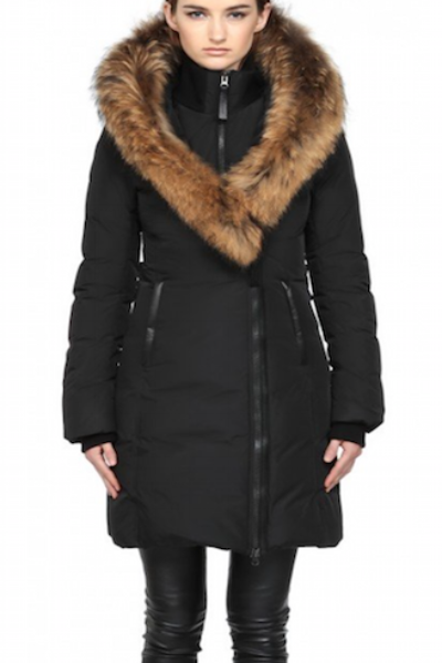 fab3052f444 Mackage Kay-F5 Long Black Winter Coat With Fur   Coats   Winter fur ...