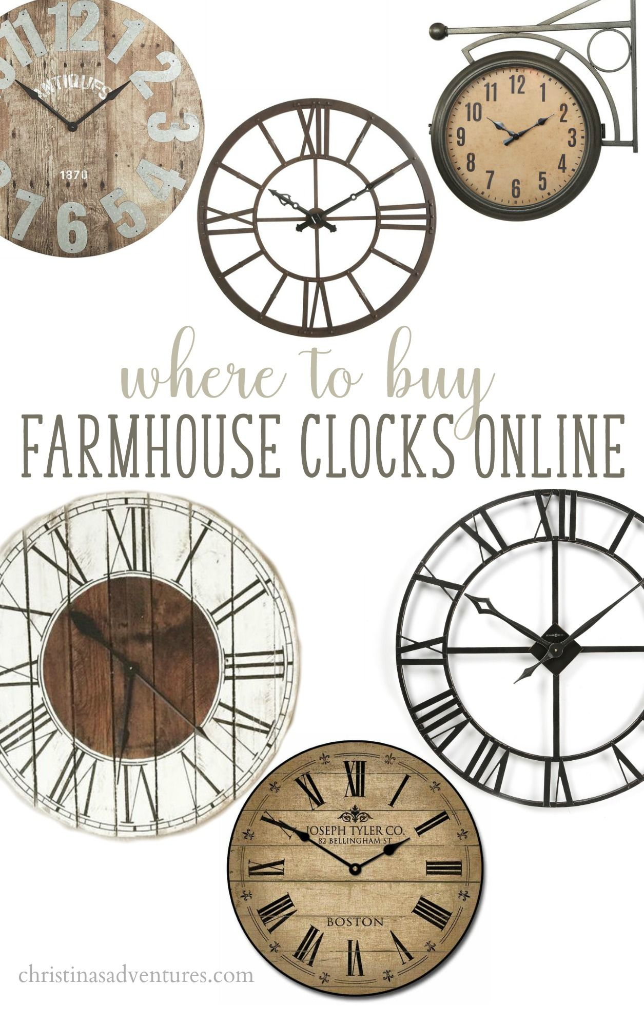 Where To Buy Farmhouse Wall Clocks Christina Maria Blog Wall Clocks Living Room Farmhouse Wall Clocks Clock Wall Decor