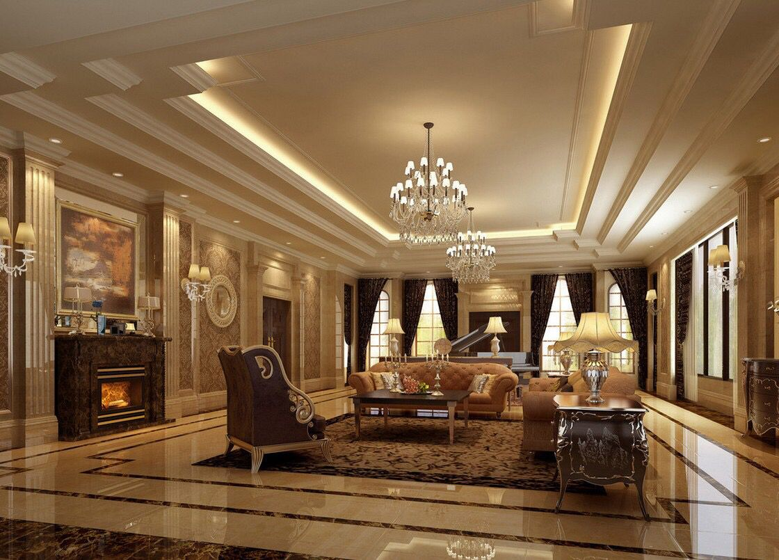 Design Neo Classical Villa Living Room With Images Luxury