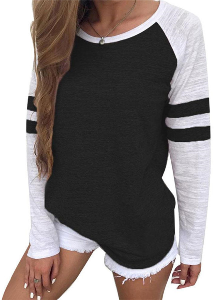 b830977f8e2 Color Block Raglan Stripe T-shirt in 2019 | Clothing things ...
