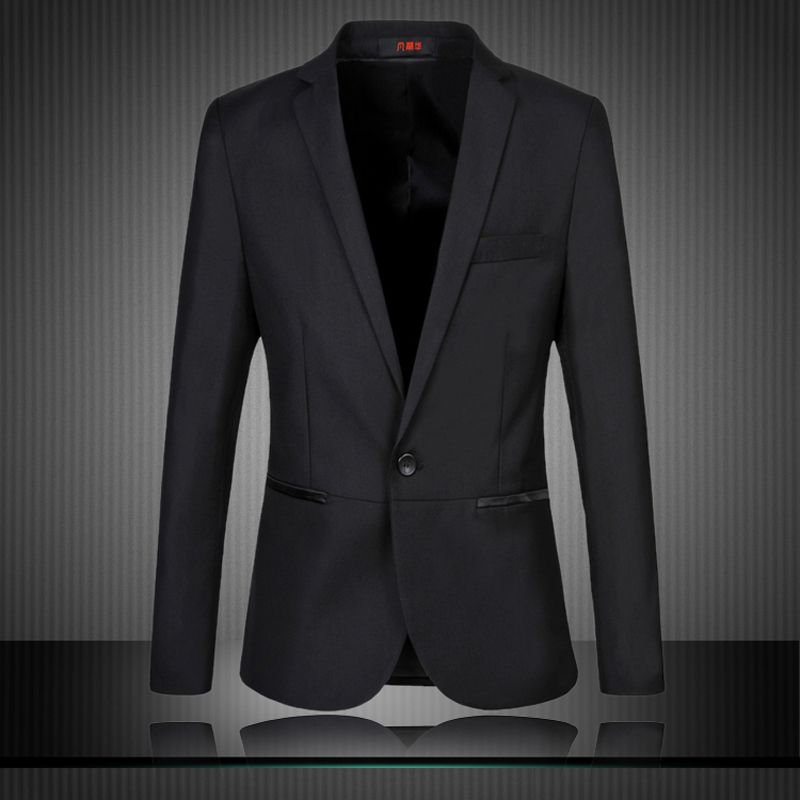 good quality blazer men New men's casual Korean Slim pocket trim a ...