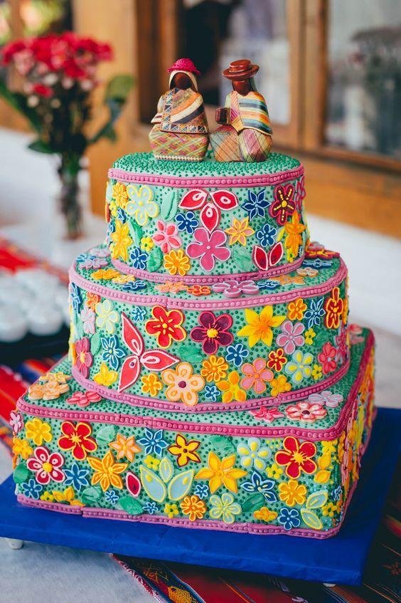 15 Lindos pasteles con efecto bordado que harán de tu fiesta un éxito