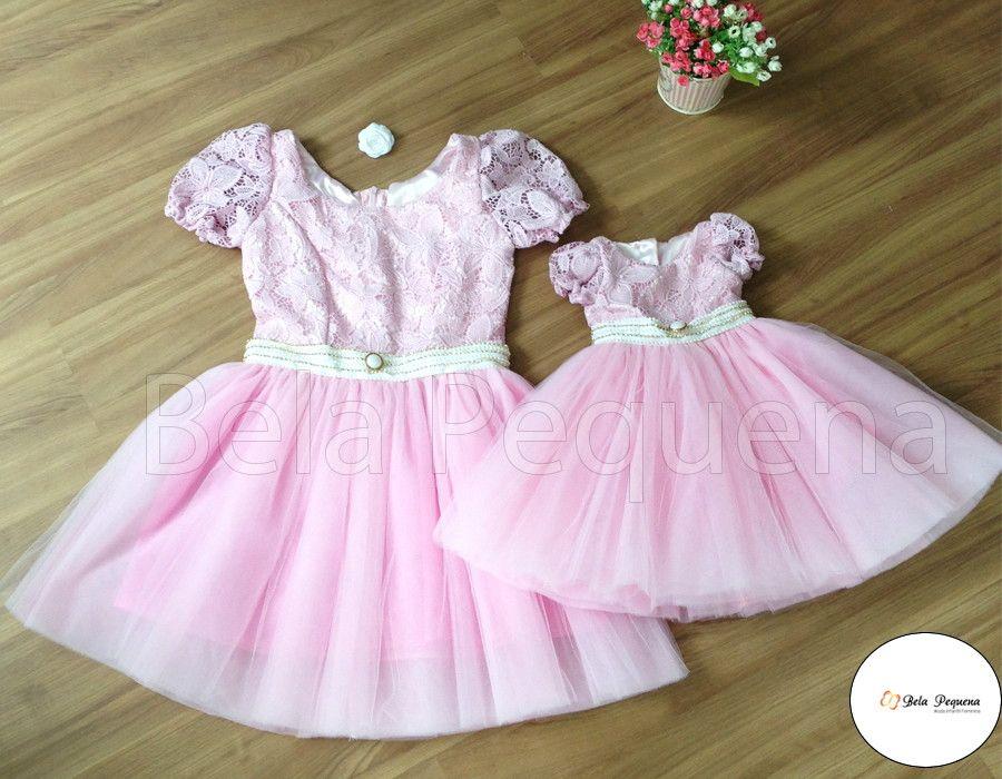 3b0b19a98e83e0 Pin de SP Jeenally em Girls dresses | Vestido mãe e filha, Vestido ...