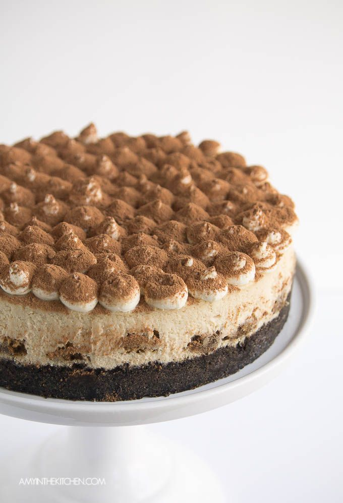 This Tiramisu Cheesecake is to die for! It's so beautiful you would think it's hard to make but it's really so easy!