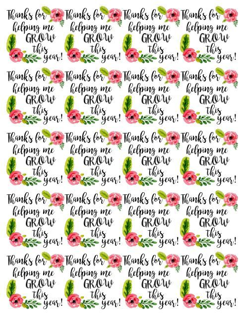 """Thanks For Helping Me Grow Quotes: """"Thanks For Helping Me Grow"""" Teacher Gift"""