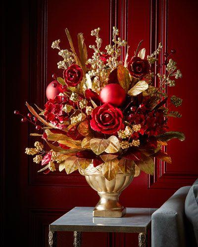H8CRA Crimson  Gold 29\ - christmas decors