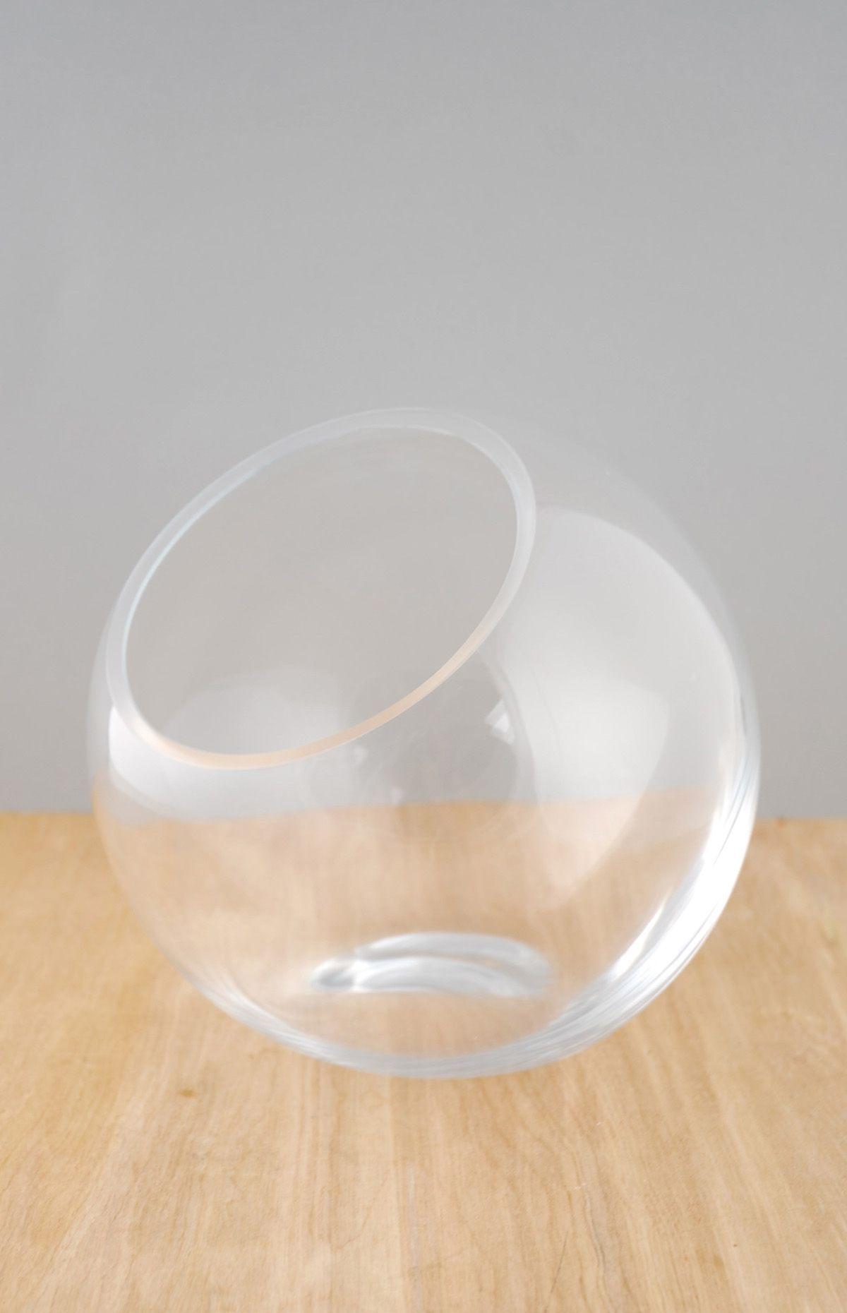 Studio glass terrarium candleholder bowl 75 x 7 centerpieces studio glass 75 x 7 glass orb bowl floridaeventfo Choice Image