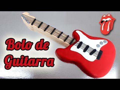 Bolo Decorado De Guitarra Como Fazer Bolo Em Formato De Guitarra