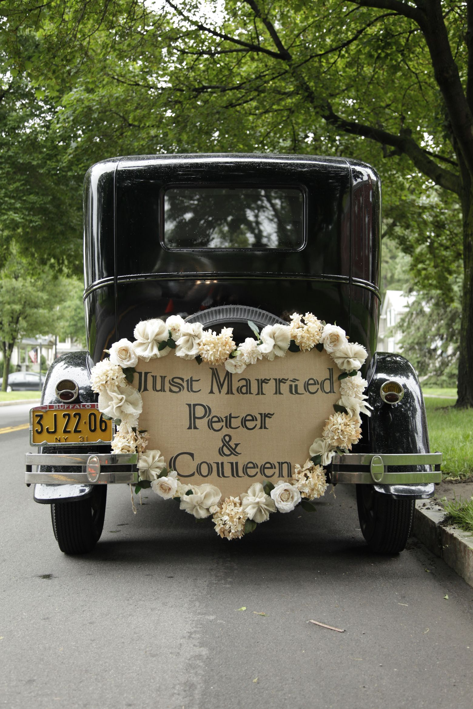 Wedding decorations car  Our Getaway Car  Wedding Car Decorations  Pinterest  Wedding car