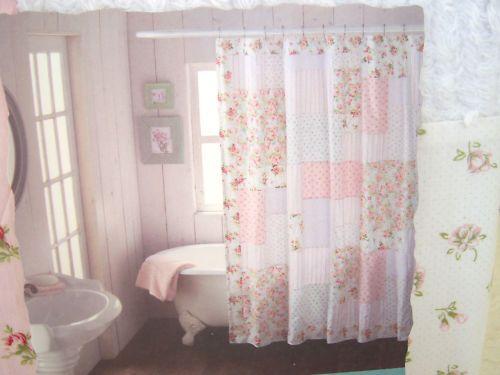Shabby Chic Curtain Shabby Chic Shower Curtain Shabby Chic Bathroom Shabby Chic Curtains