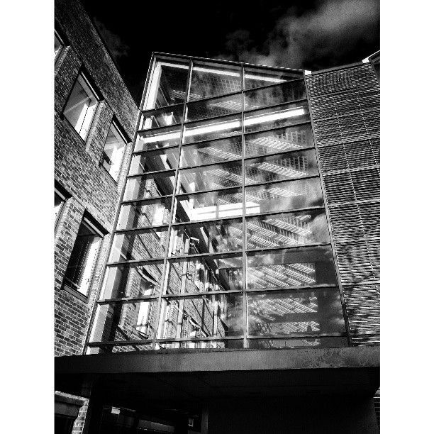 Architecture Glass Bw Glass Building