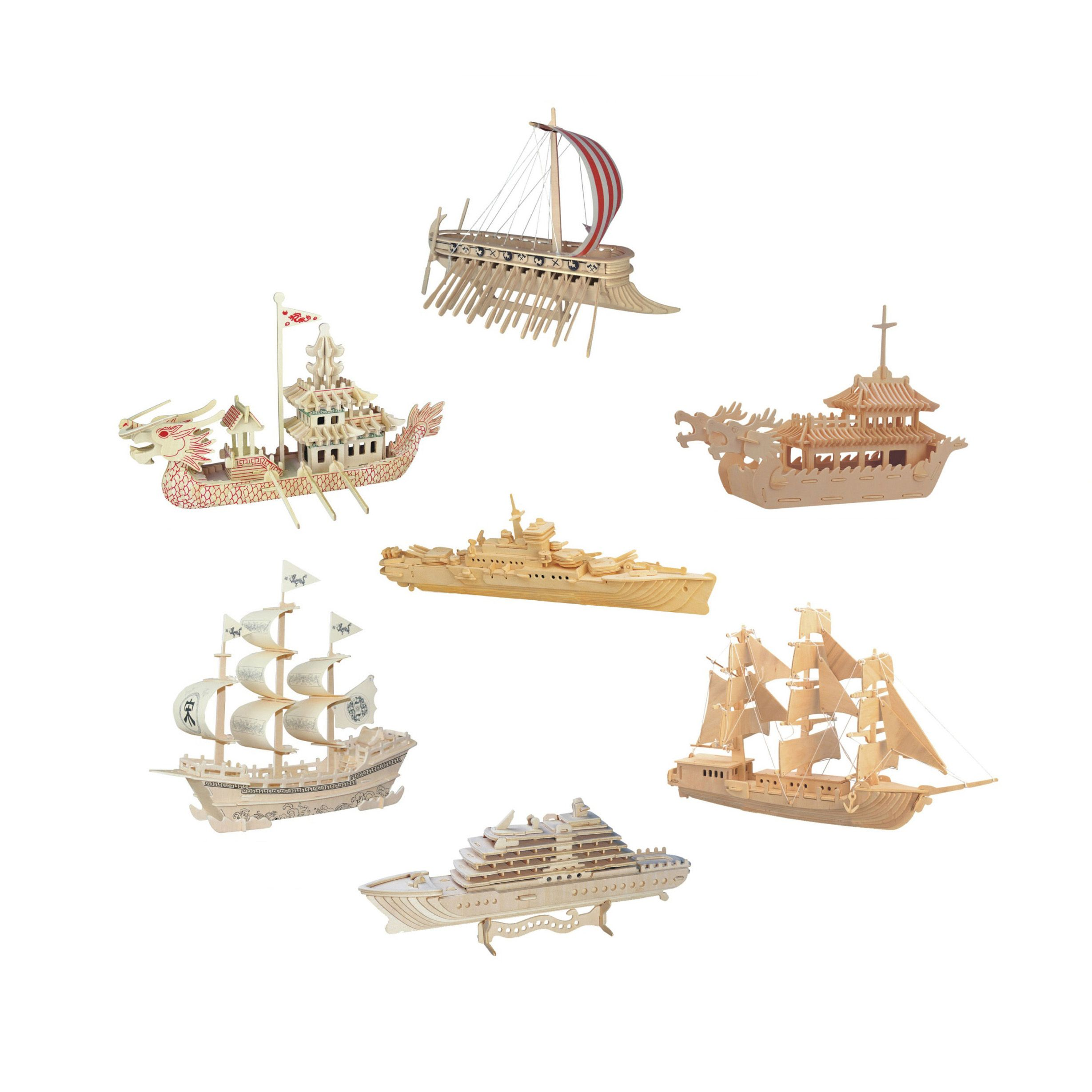 Chanycore Baby Learning Educational Wooden Toys D Puzzle Phenicia - Educational cruise ships