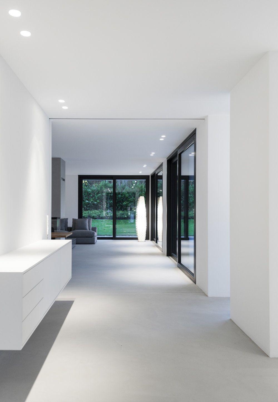 Modernes bungalow innenarchitektur wohnzimmer einfamilienhaus grünwald   design  pinterest  boden