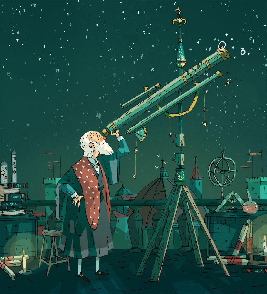 Galileo Galilei: Joe Todd-Stanton — An unused illustration of Galileo that I reckon is...