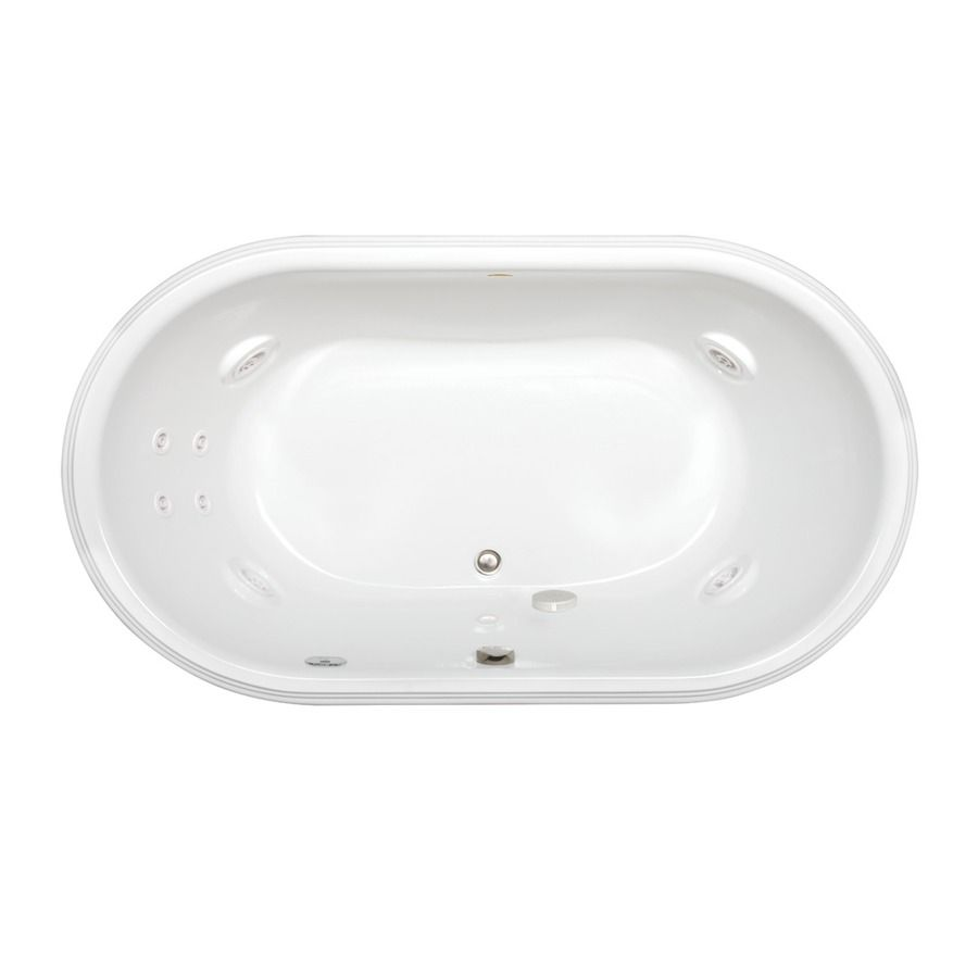 Shop Jacuzzi Luna 2-Person White Acrylic Oval Whirlpool Tub (Common ...