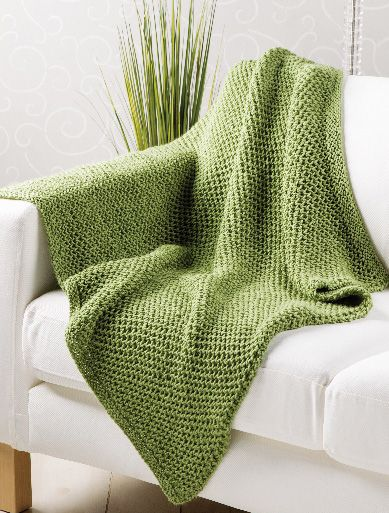 Seagrass Throw Big Needles And Open Stitches Mean It Works Up In A