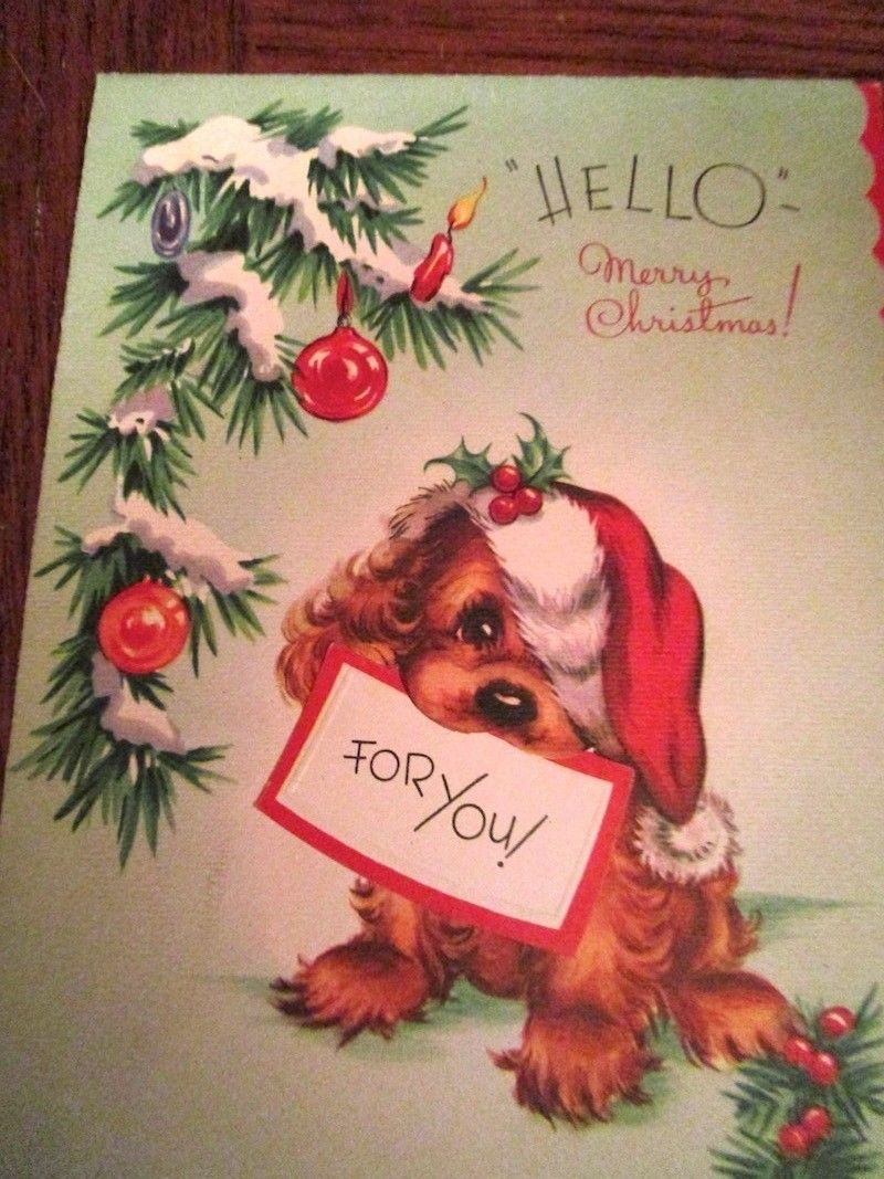 LOT 37 Vintage Christmas Greeting Cards, 1940s 1950s 1960s