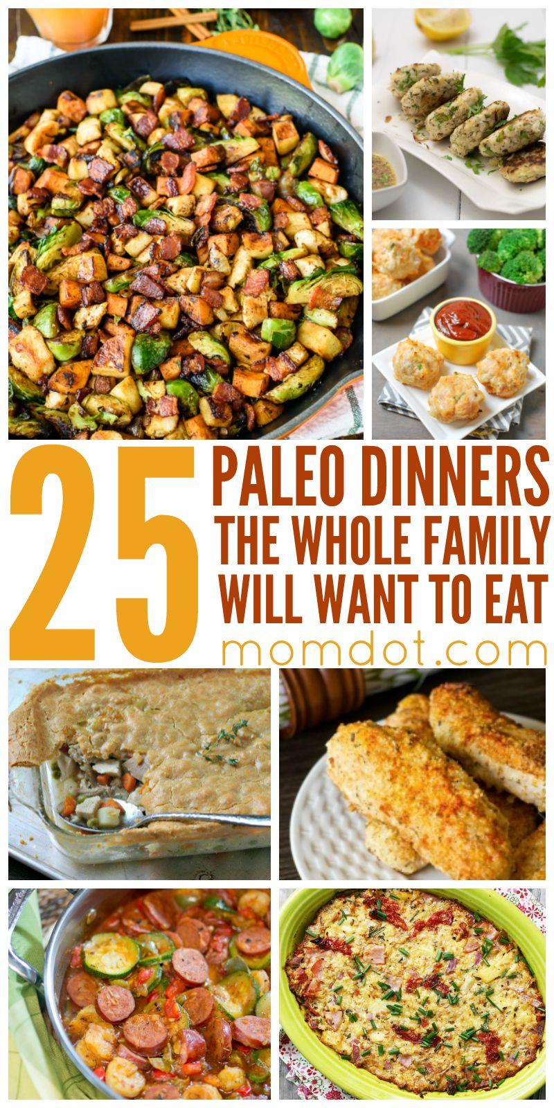 Paleo Dinner Recipes The Whole Family Will Love Paleo Recipes Dinner Easy Paleo Dinner Recipes Paleo Dinner Easy