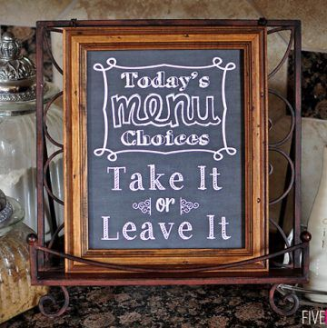 chalkboard art kitchen quote take it or leave it free printable chalkboard art kitchen art on kitchen quotes printable id=16472