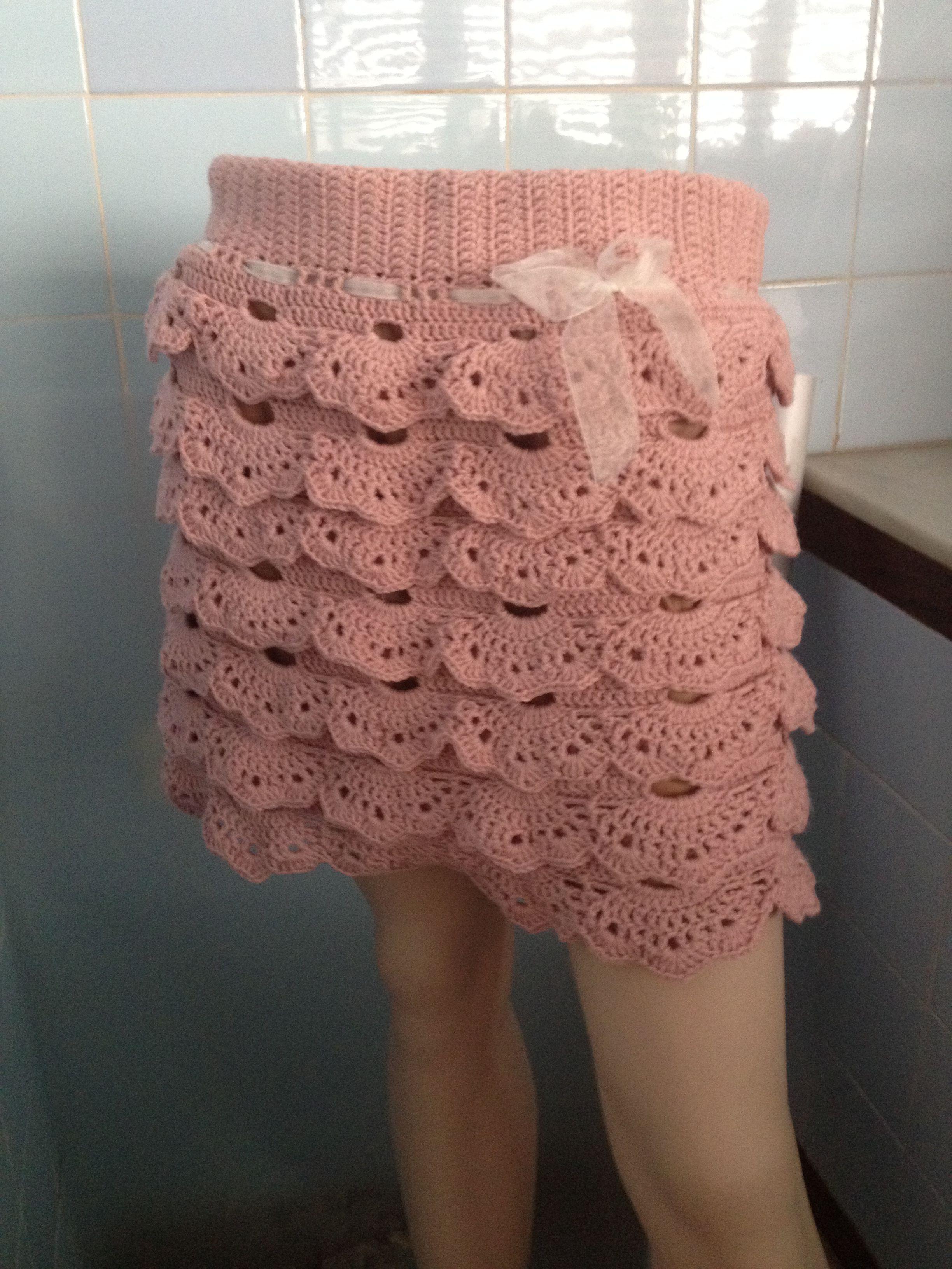 Falda de crochet hecha con hilo Cotocril de la marca Ofil | crochet ...