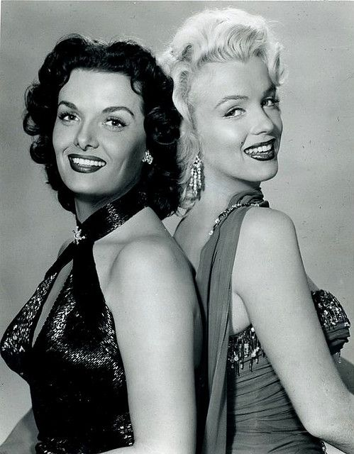 Marilyn Monroe Jane Russell in a promotional photo for