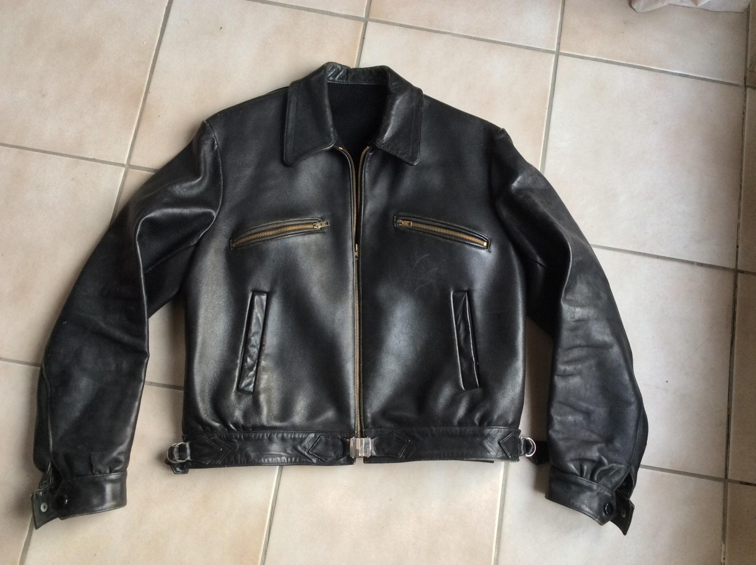Albert Einstein's c1935 levisbrand leather jacket. On