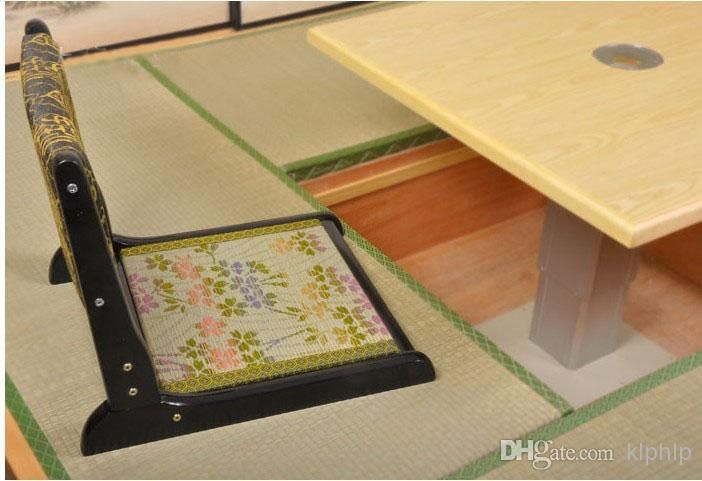 Classic Japanse Zaisu Chair Folding Living Room Chair 2pcs/lot Black ...