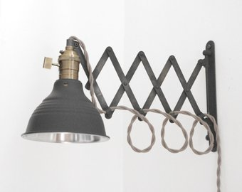 Scissor Lamp Industrial Articulating Wall Lamp Light