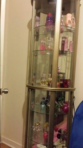 Glass perfume cabinet  Home decor in 2019  Perfume
