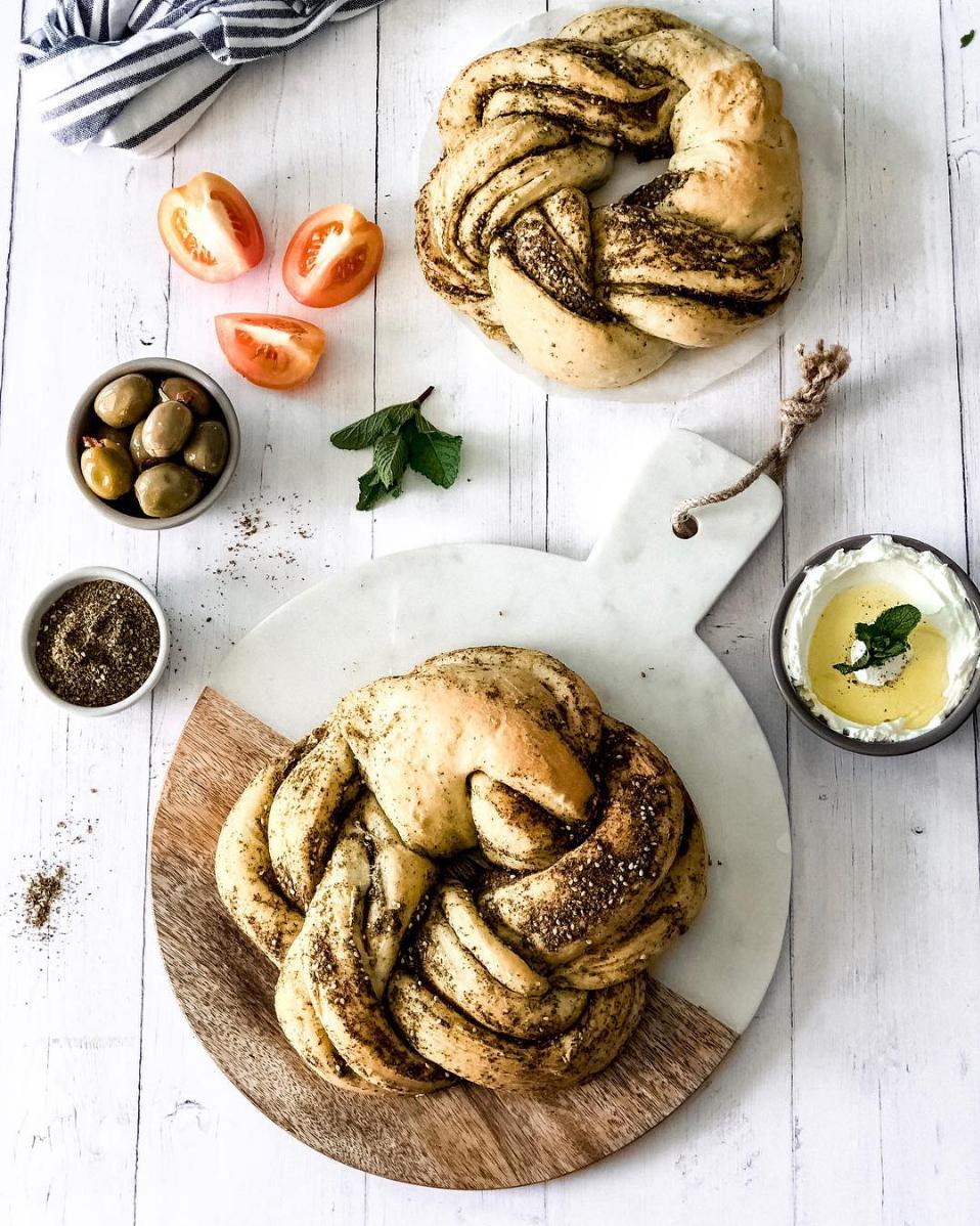 Braided zaatar bread | Food inspiration, Bread, Zaatar