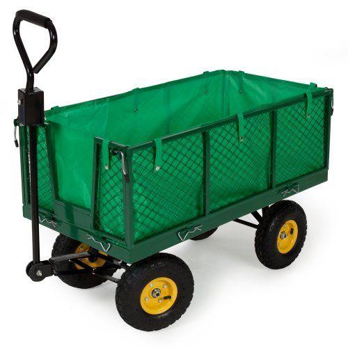 Tectake carro de transporte carretilla de mano de jardin - Carretillas de transporte ...