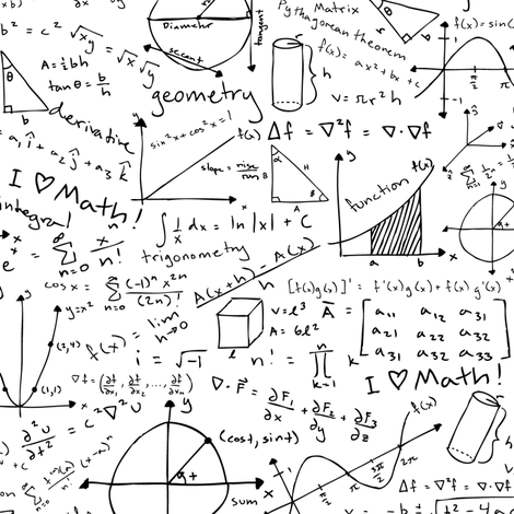Pages of Equations fabric by robyriker on Spoonflower