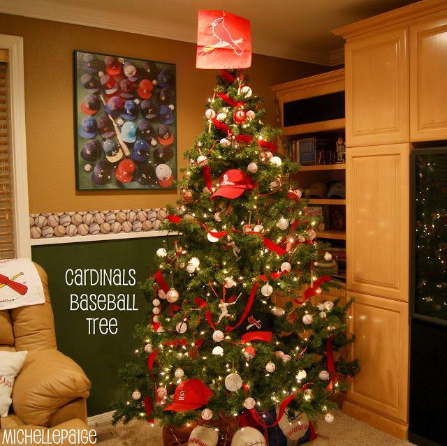 STL Cardinals Baseball Christmas Tree We will