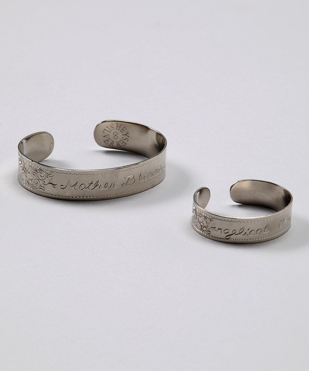 Hand engraved cuff bracelet set simply beautiful these would make