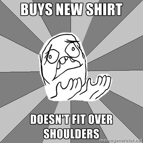 so annoying. thanks swim. thank you so much, I blame everything on swim for my wide shoulders