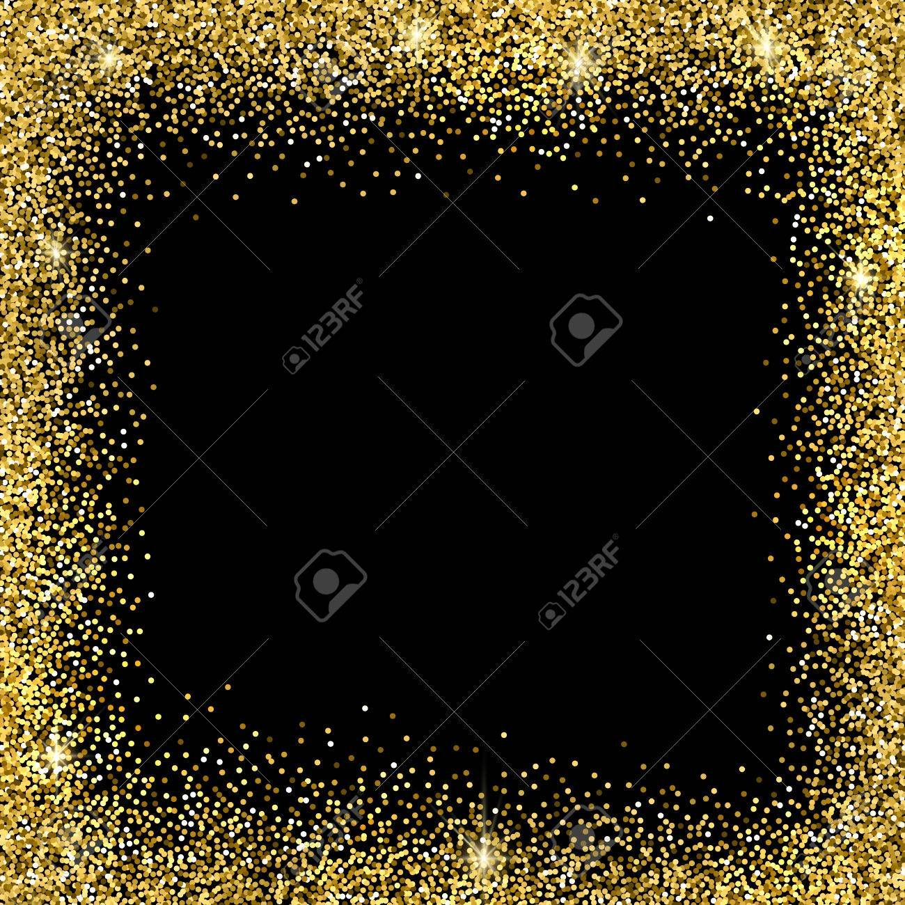 Gold sparkles on black background. Gold glitter background. Illustration , #SPONSORED, #black, #sparkles, #Gold, #Illustration, #glitter #goldglitterbackground