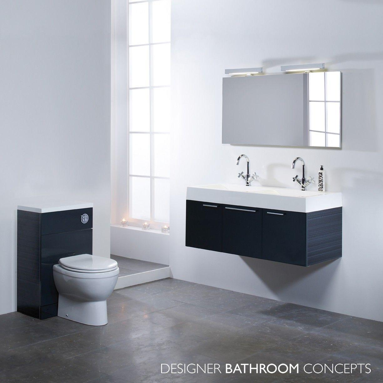 Designer Vanity Units For Bathroom Captivating Envy Designer Double Basin Anthracite Bathroom Vanity Unit Inspiration