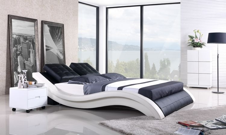 Sofa Bed 2013 New Modern Design Top Grain Leather Cover King