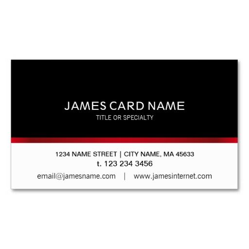 Elegant Black\/White Red Line business card Black white red - line card template