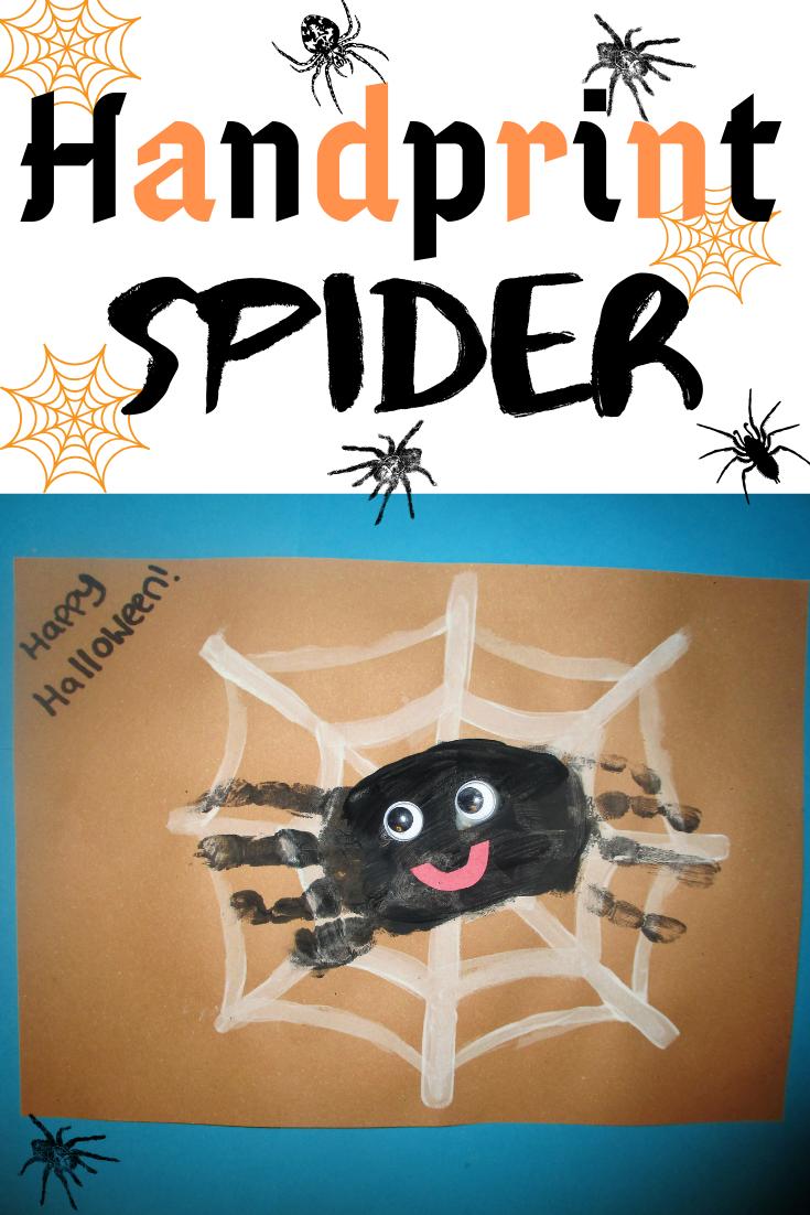 18++ Spider handprint craft preschool info
