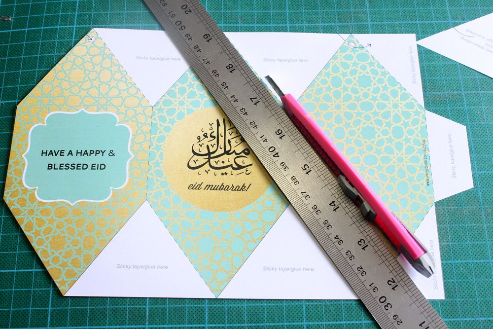 Free Printable Eid Lanterns In My Studio Eid Envelopes Eid Eid Cards