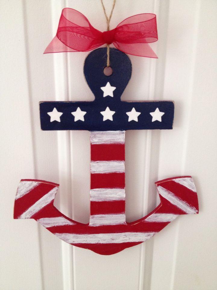 4th Of July Door Hangers American Flag