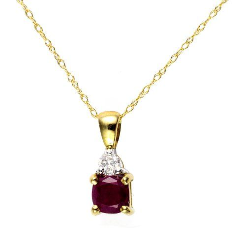 Ivy Gems 9ct Yellow Gold Diamond and Pearl Pendant with 46cm Prince of Wales Chain jwhQAxK08Z