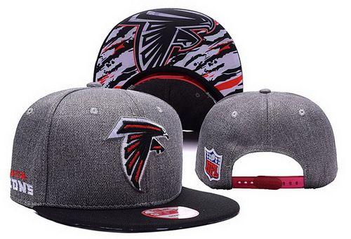 NFL Atlanta Falcons Embroidery Heather Gray Snapback Hats Brim Lava