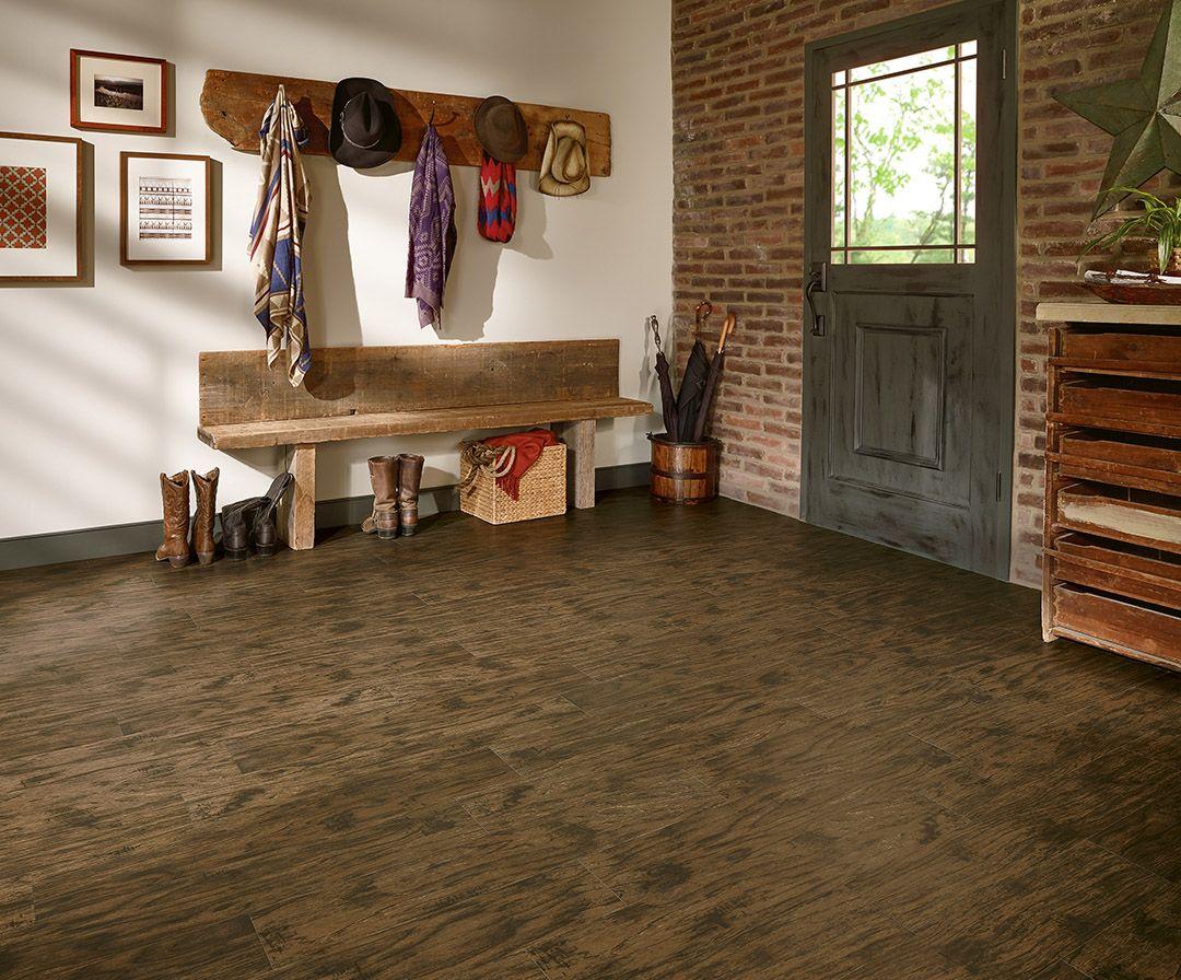 Water Resistant Luxury Vinyl Plank Flooring Dark Wood
