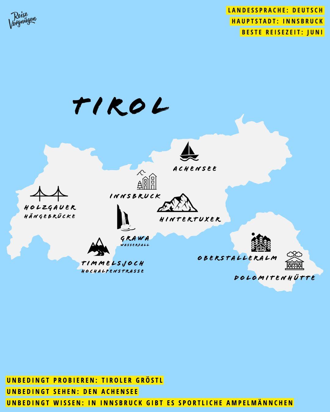 Die Besten Tipps Fur Tirol Tirol Karte Tirol Beste Reisezeit