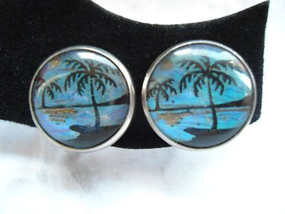These button earrings are so cute and just the right size for comfort!  From 2hippiechics Vintage Collectibles on Ebay