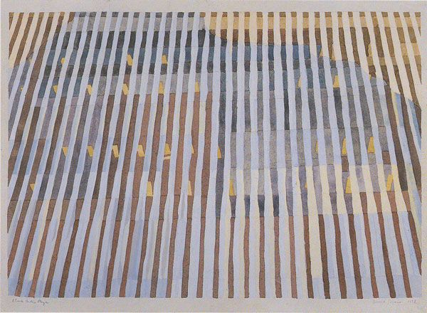 """Denise Green - Works On Paper 'Trade Center Plaza', 1972, 22 x 26"""", Kerry Stokes Collection, Perth"""