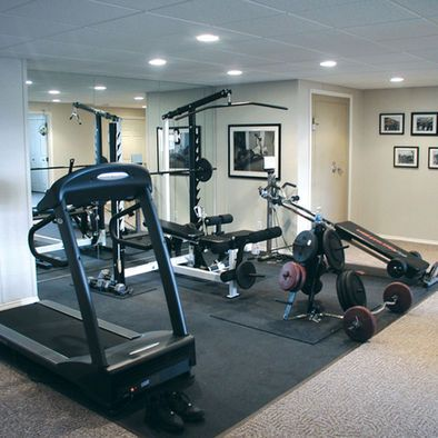 """rubber floor w carpet exercise room""  gym room at home"