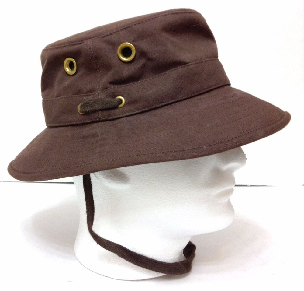 TILLEY ENDURABLES BUCKET HAT Mens Outdoor Fishing Outback BROWN 7-1 2  ( 7-3 8)  Tilley  Bucket 872e5b81269